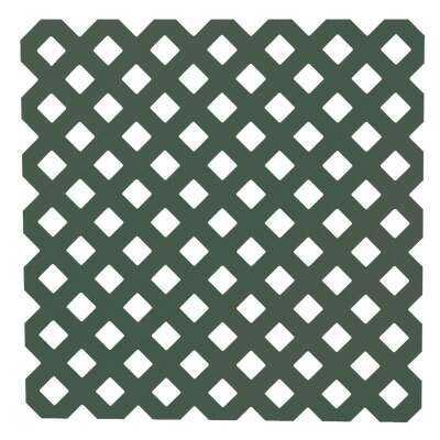 Dimensions 4 Ft. W x 8 Ft. L x 3/16 In. Thick Dark Green Vinyl Privacy Lattice Panel