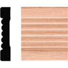 House of Fara 7/16 In. W. x 2-1/4 In. H. x 7 Ft. L. Natural Solid Oak Fluted Wood Casing Image 1