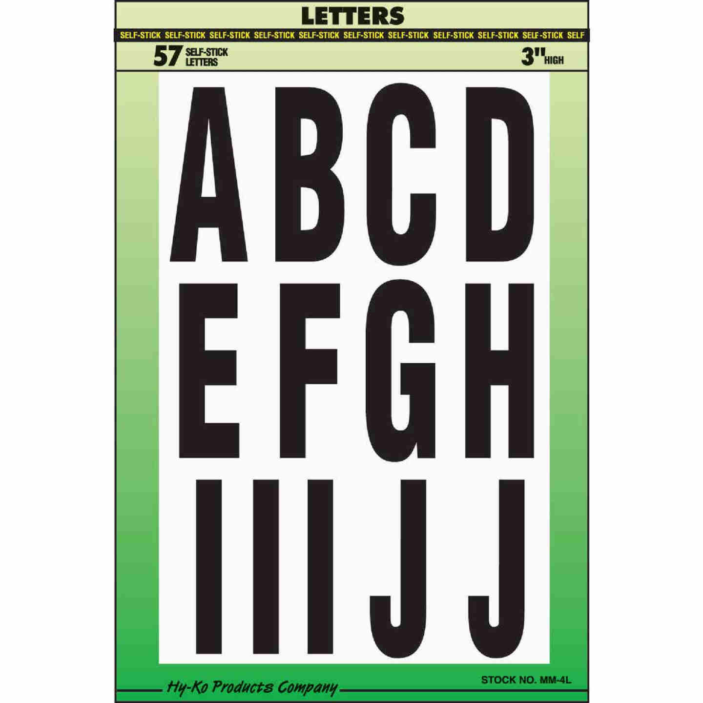 Hy-Ko 3 In. Self-Adhesive Assortment Letters Image 1