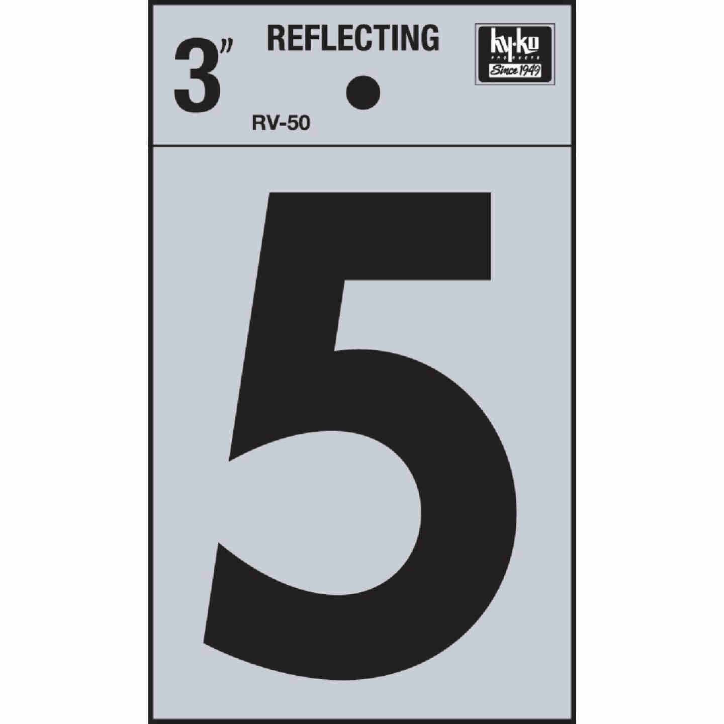 Hy-Ko Vinyl 3 In. Reflective Adhesive Number Five Image 1