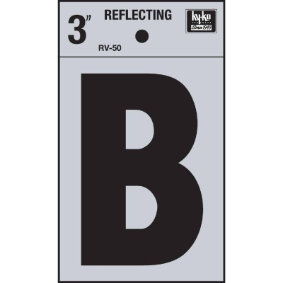 Hy-Ko Vinyl 3 In. Reflective Adhesive Letter, B