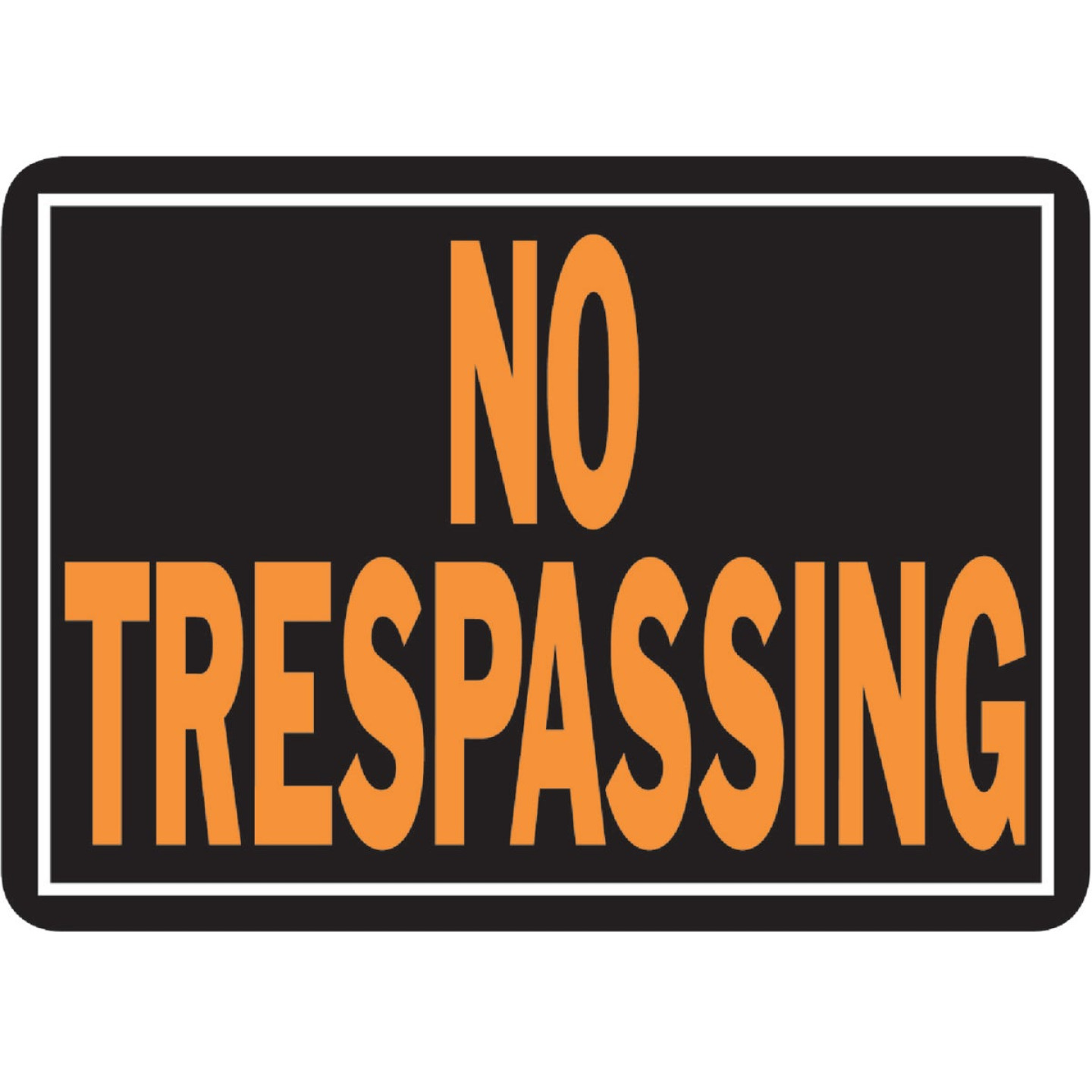 Hy-Ko Aluminum Sign, No Trespassing Image 1