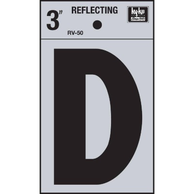 Hy-Ko Vinyl 3 In. Reflective Adhesive Letter, D