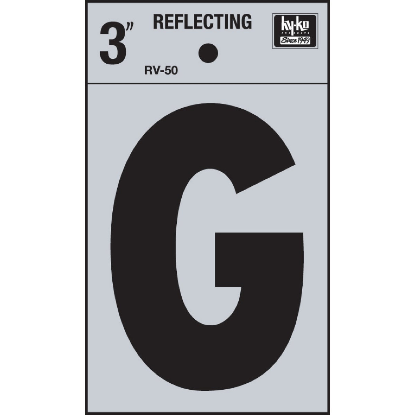 Hy-Ko Vinyl 3 In. Reflective Adhesive Letter, G Image 1