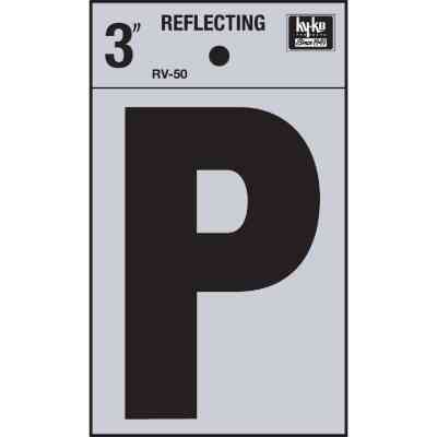 Hy-Ko Vinyl 3 In. Reflective Adhesive Letter, P