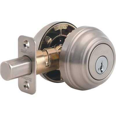 Kwikset Signature Series Satin Nickel Double Cylinder Deadbolt with SmartKey