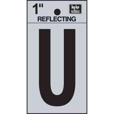 Hy-Ko Vinyl 1 In. Reflective Adhesive Letter, U