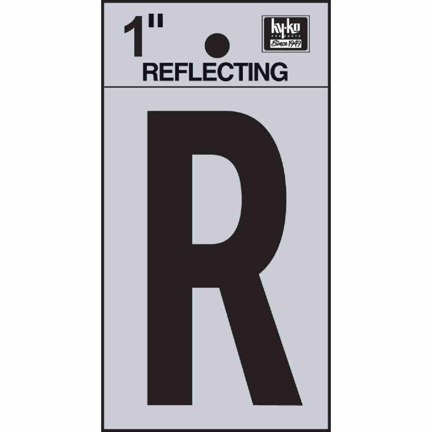 Hy-Ko Vinyl 1 In. Reflective Adhesive Letter, R Image 1
