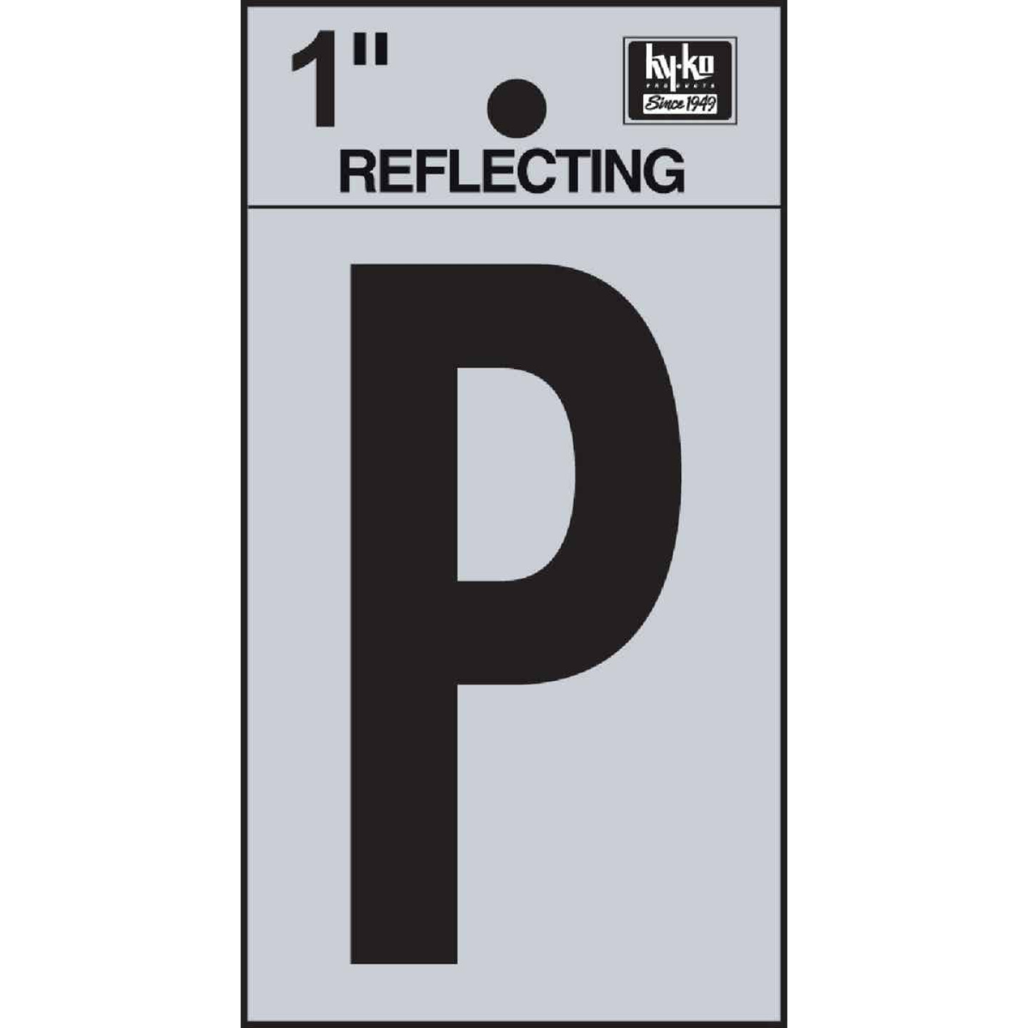 Hy-Ko Vinyl 1 In. Reflective Adhesive Letter, P Image 1