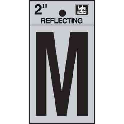 Hy-Ko Vinyl 2 In. Reflective Adhesive Letter, M