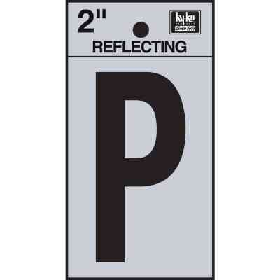 Hy-Ko Vinyl 2 In. Reflective Adhesive Letter, P