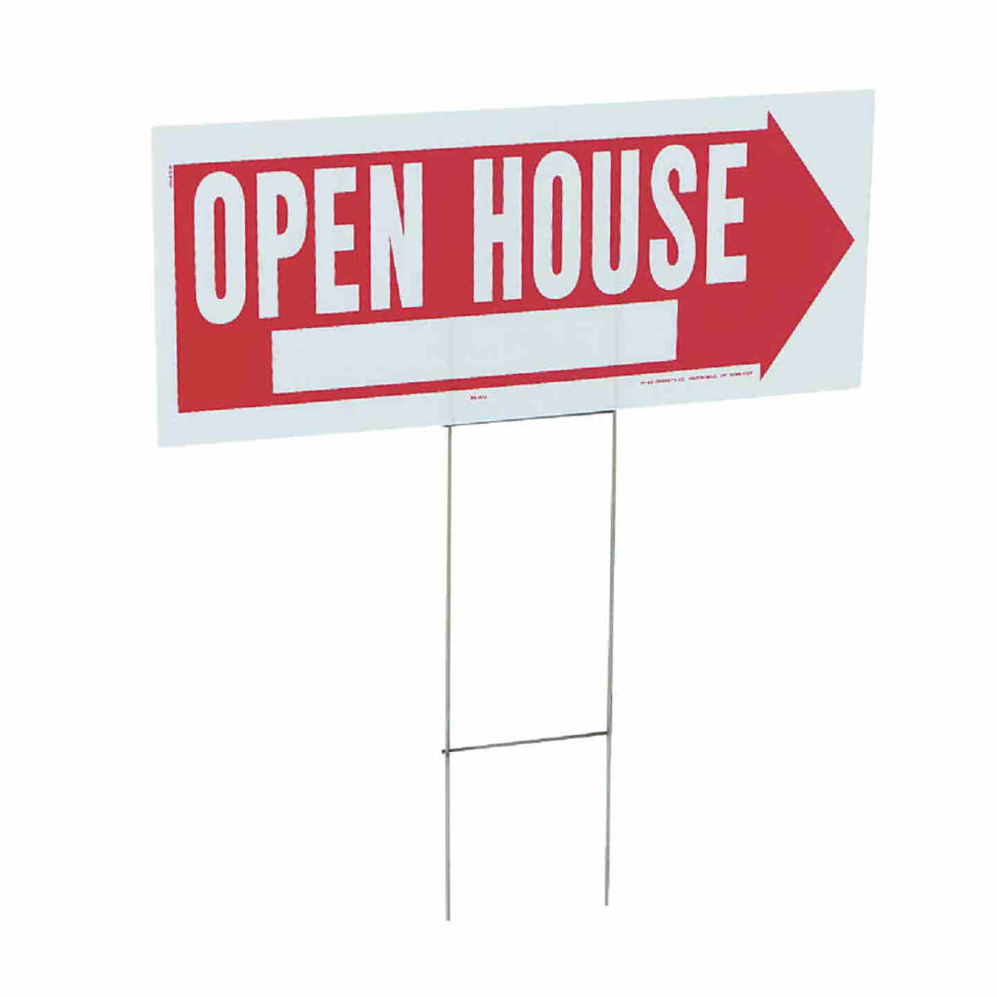 Hy-Ko Corrugated Plastic Sign, Open House Image 1