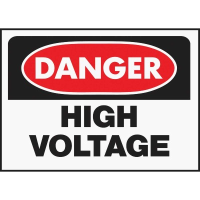Hy-Ko Polyethylene Sign, Danger High Voltage