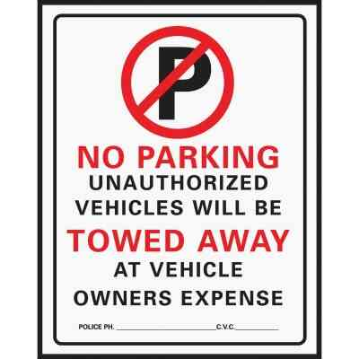 Hy-Ko Commercial Grade Plastic Sign, No Parking