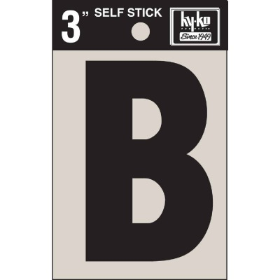 Hy-Ko Vinyl 3 In. Non-Reflective Adhesive Letter, B