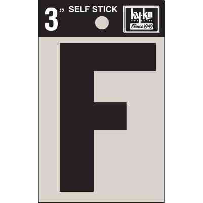 Hy-Ko Vinyl 3 In. Non-Reflective Adhesive Letter, F