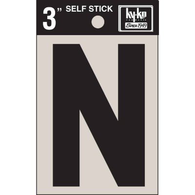 Hy-Ko Vinyl 3 In. Non-Reflective Adhesive Letter, N