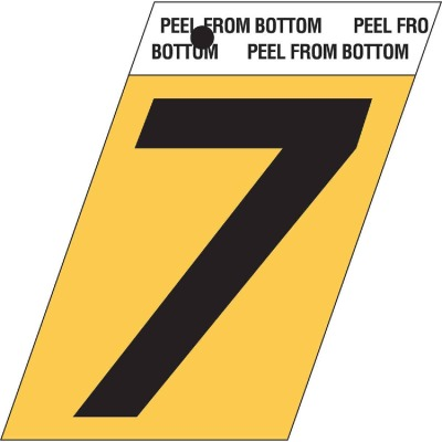 Hy-Ko Aluminum 1-1/2 In. Non-Reflective Adhesive Number Seven