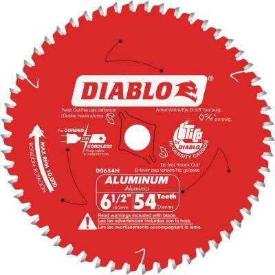 Diablo 6-1/2 In. 54-Tooth Aluminum Circular Saw Blade