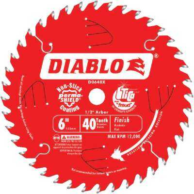 Diablo 6 In. 40-Tooth Finish Circular Saw Blade