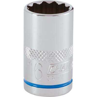 Channellock 1/2 In. Drive 16 mm 12-Point Shallow Metric Socket