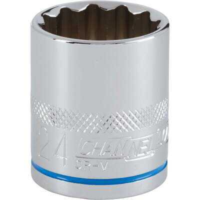 Channellock 1/2 In. Drive 24 mm 12-Point Shallow Metric Socket