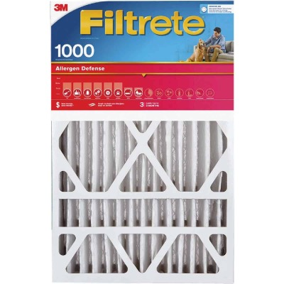 3M Filtrete 16 In. x 25 In. x 1 In. Allergen Defense 1000/1085 MPR Furnace Filter (2-Pack)