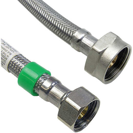 Lasco 1/2 In. IPS x 7/8 In. BC x 20 In. L Braided Stainless Steel Flex Line Toilet Connector