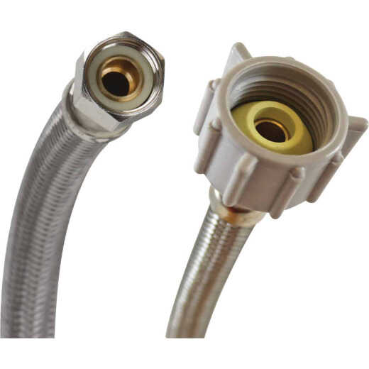 Fluidmaster 3/8 In. Comp x 7/8 In. Ballcock x 16 In. L Braided Stainless Steel Toilet Connector