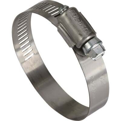 Ideal 1-1/2 In. - 2-1/2 In. 57 Stainless Steel Hose Clamp with Zinc-Plated Carbon Steel Screw