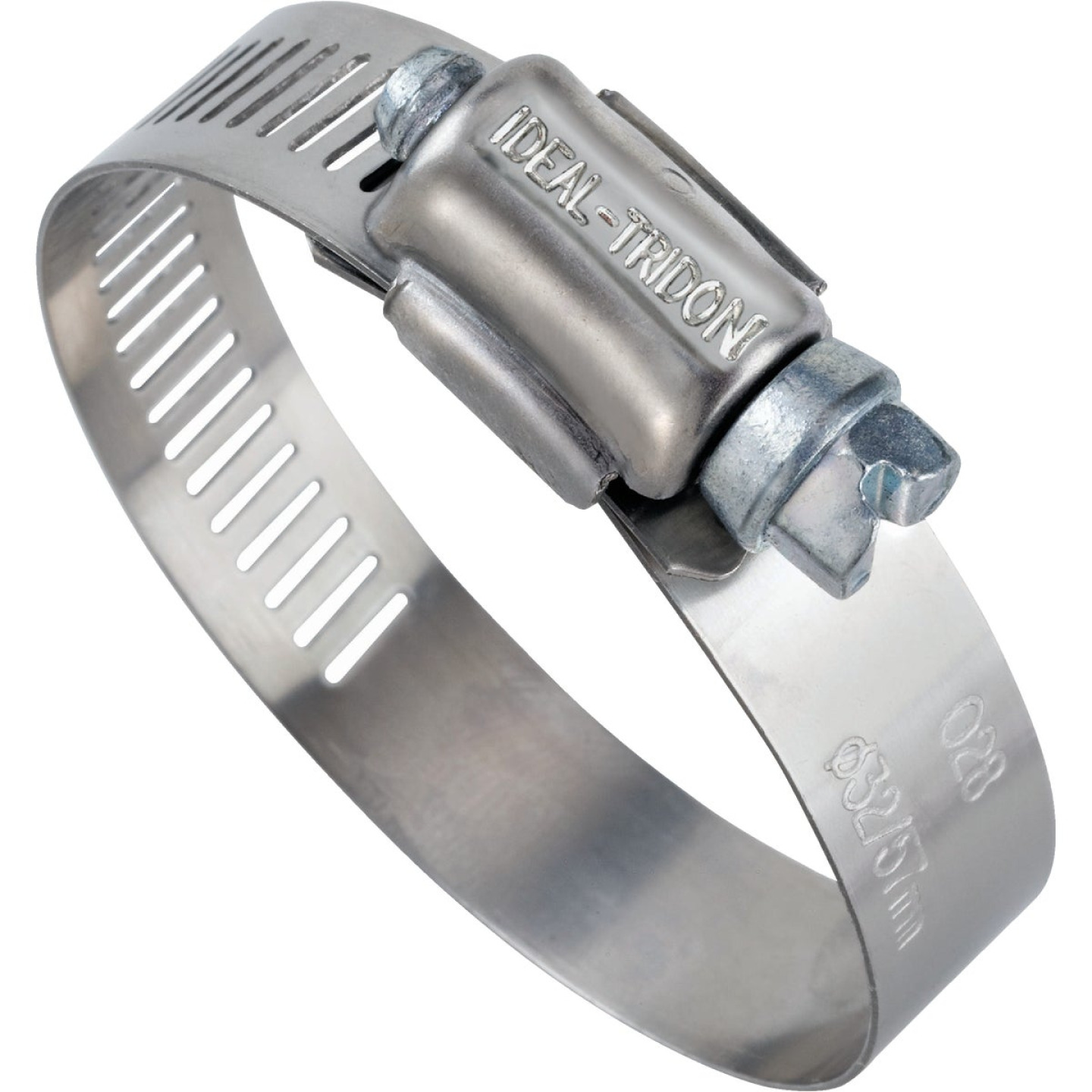 Ideal 1/2 In. - 1-1/4 In. 57 Stainless Steel Hose Clamp with Zinc-Plated Carbon Steel Screw Image 1