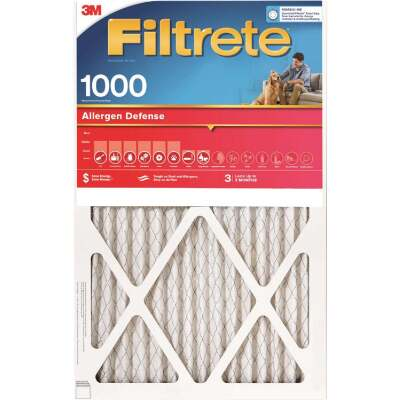 3M Filtrete 15 In. x 20 In. x 1 In. Allergen Defense 1000/1085 MPR Furnace Filter