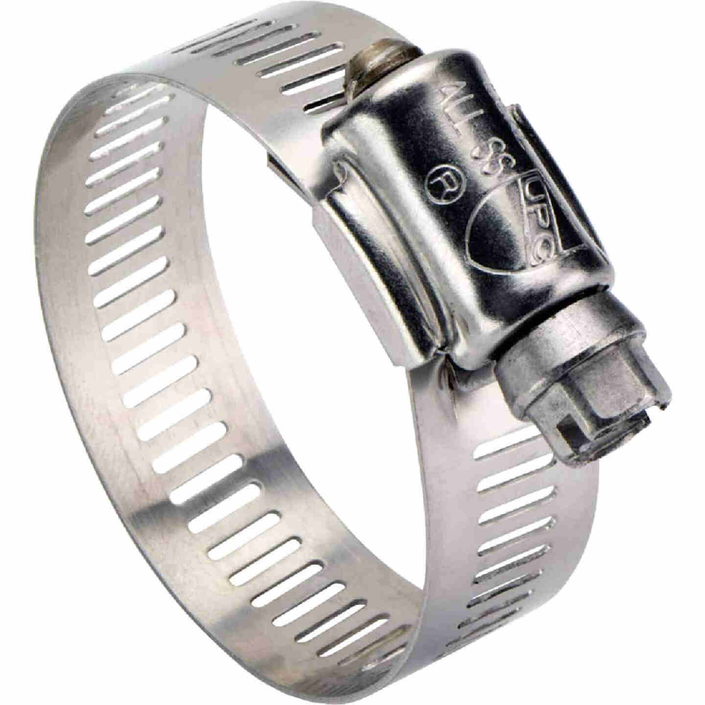 Ideal 5 In. - 7 In. All Stainless Steel Marine-Grade Hose Clamp Image 1