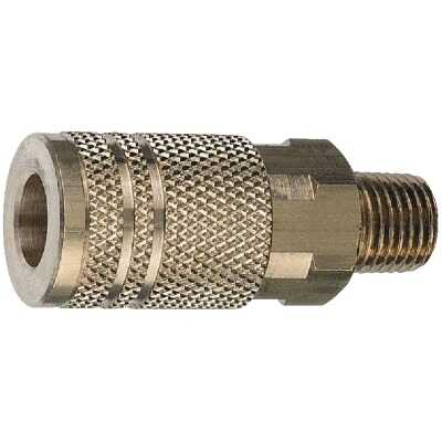 Tru-Flate Industrial/Milton Series Push-to-Connect 1/4 In. MNPT Coupler