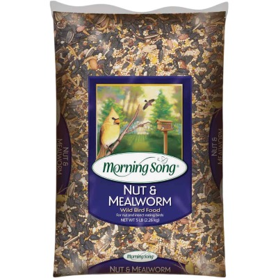 Morning Song 5 Lb. Nut & Mealworm Wild Bird Food