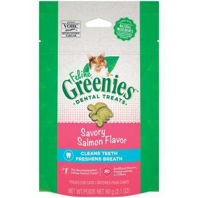 Greenies Savory Salmon 2.1 Oz. Dental Cat Treats