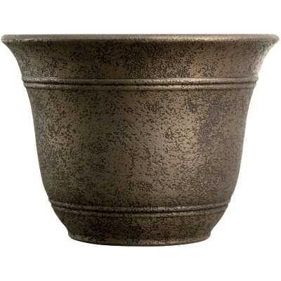 Listo Sierra 11-3/4 In. H. x 16 In. Dia. Nordic Bronze Poly Flower Pot