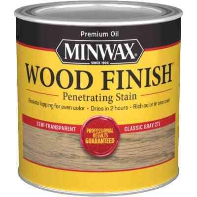 Minwax Wood Finish Penetrating Stain, Classic Gray, 1/2 Pt.