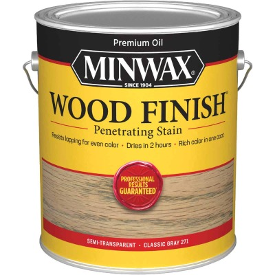 Minwax Wood Finish Penetrating Stain, Classic Gray, 1 Gal.