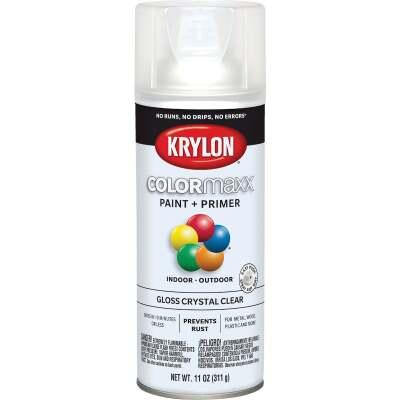 Krylon ColorMaxx 11 Oz. Gloss Paint + Primer Spray Paint, Crystal Clear