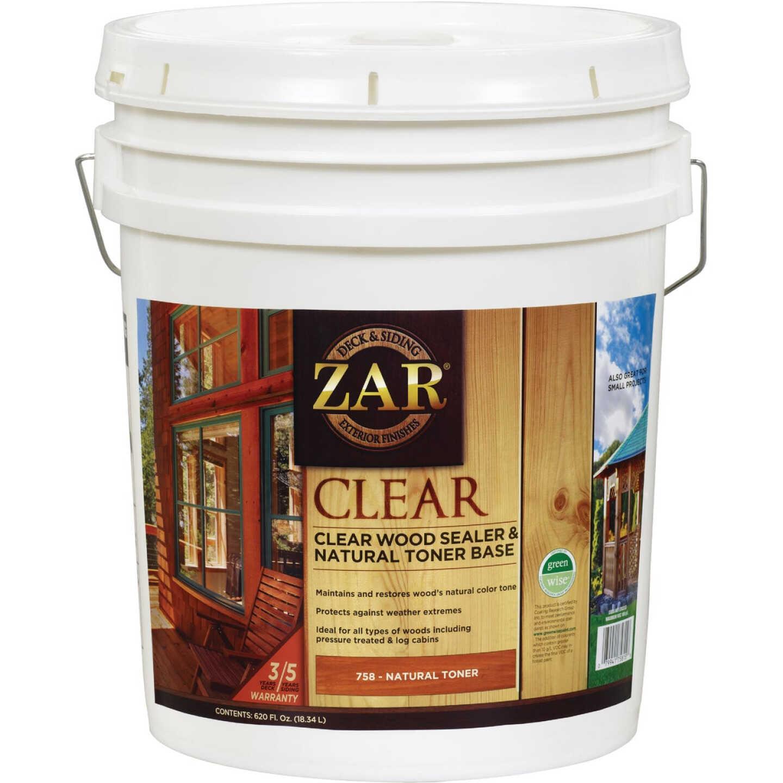Zar 5 Gal. Deck & Siding Clear Wood Sealer & Stain Image 1