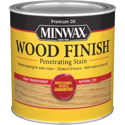 Minwax Wood Finish Penetrating Stain, Natural, 1/2 Pt.