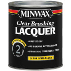 Minwax Semi-Gloss Clear Brushing Lacquer, 1 Qt. Image 1
