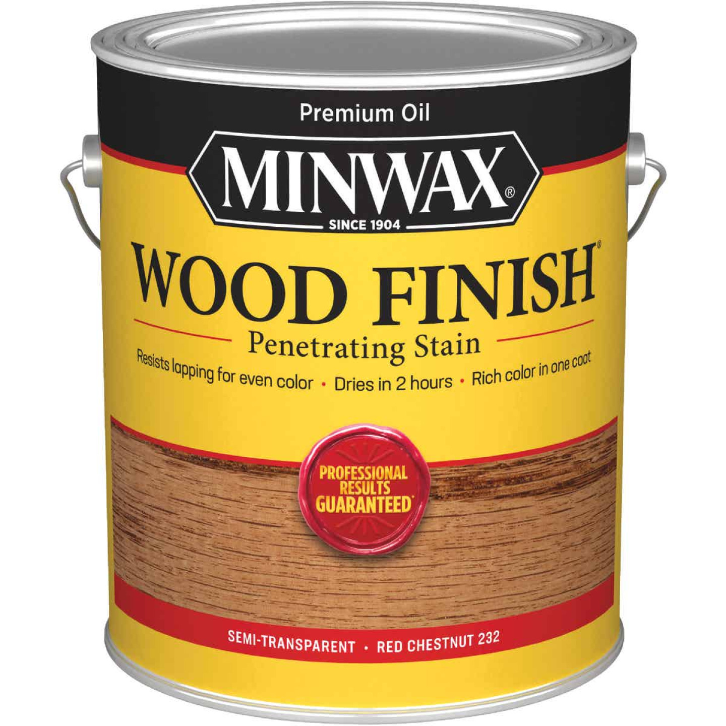 Minwax Wood Finish Penetrating Stain, Red Chestnut, 1 Gal. Image 1