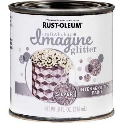 Rust-Oleum Imagine Craft & Hobby 8 Oz. Intense Silver Glitter Paint