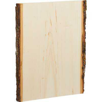 Walnut Hollow Basswood Country Planks 9 to 11 In. W x 13 In. H. Live Edge Plank