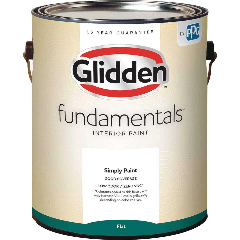 Glidden Fundamentals Interior Paint Flat White Pastel Base 1 Gallon Image 1