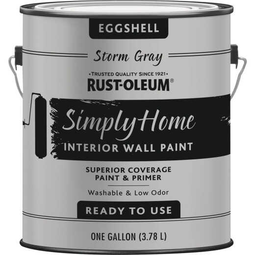 Simply Home Eggshell Storm Gray Interior Wall Paint, Gallon