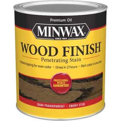 Minwax Wood Finish Penetrating Stain, Ebony, 1 Qt.