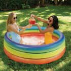 PoolCandy 15 In. D. x 60 In. Dia. Rainbow Haze Inflatable Sunning Pool Image 2